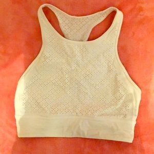 Lululemon sports bra - white with laser cut print
